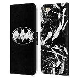 Head Case Designs Licenciado Oficialmente Batman DC Comics Mármol Logotipos Carcasa de Cuero Tipo Libro Compatible con Apple iPhone 6 Plus/iPhone 6s Plus