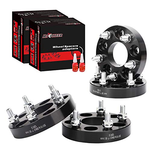 4 Pcs 1 inch Wheel Adapters Spacers 5x110 to 5x114.3 (Changes Bolt Pattern 5x4.5 Rims on 5x100mm Vehicles),5x110 to 5x4.5 Adapter 65.1mm&12x1.5 Studs for Various Chevy Pontiac Saturn