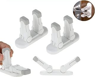 Upgraded Door Lever Lock Childproof Door Handle Locks Prevent Toddler Kids to Open Bedroom/Bathroom/Kitchen Door Child Safety Locks Simple Installation and No Tools Needed 4Pcs