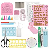 Samfox Quilling Tool Kit, DIY Quilling Paper Slotted Tools Sets Art Craft Decoration 24Pcs