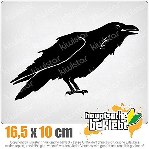 KIWISTAR Rabe Krähen Corvus 16,5 x 10 cm IN 15 FARBEN - Neon + Chrom! Sticker Aufkleber