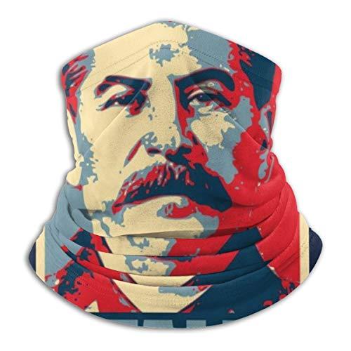 Stalin Hope Parodie Gesichtsmaske staubdicht Kopfbedeckung Bandanas Sturmhaube für Radfahren, Laufen, Wandern