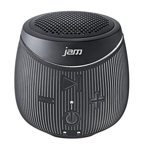 Jam Doubledown Wireless Portable Bluetooth Speaker, Splash Proof, Ultra Portable, Answer Calls, Speakerphone, Rubberized Body, Durable, 30ft Range, Black (Certified Refurbished)