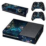 Pegatina De Piel con Patrón De Anime para Microsoft Game Console (Xbox One, Azul) Y 2 Controladores Y Kinect 2.0 Pegatina De Piel De PVC - para Placas Frontales, Protectores De Xbox One,0723