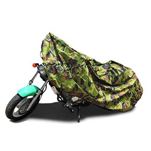 uxcell XL 190T Rain Dust Motorcycle Cover Camouflage Outdoor Waterproof 96inch for Yamaha Honda Suzuki Kawasaki Ducati BMW