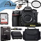 Nikon D850 DSLR Camera Body 45.7MP CMOS Sensor with SanDisk 128GB Memory Card, Case, Tripod and A-Cell Accessory Bundle (Black)