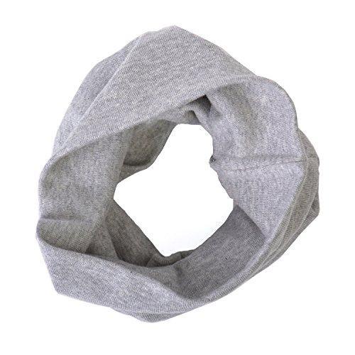 Charm Casualbox | Organico Cotone Headband Scaldacollo Bambini Giovani Ragazze Chemio Cappello Morbido Eco-Friendly Grigio Chiaro