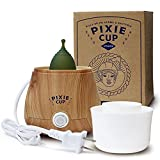 Pixie Menstrual Cup Steamer Sterilizer Cleaner All-in-One - Cleans, Dries, and Stores Your Period Cup - Kills 99.9% of Germs with Steam