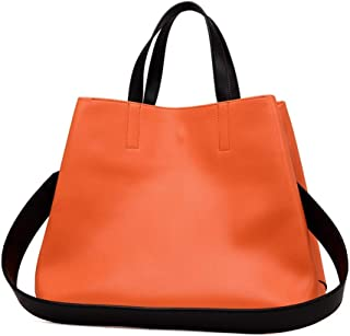 Ms. Bag/Fashion Leather Handbags/Fashion Leather Hand Shoulder Bag. jszzz (Color : Orange)
