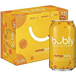 bubly Sparkling Water, Mango, 12 ounce Cans(Pack of 12)