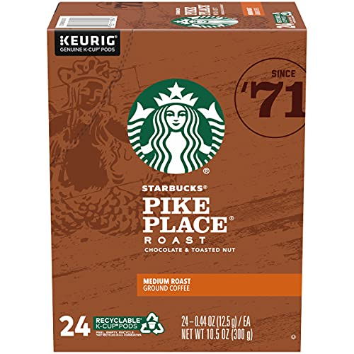 Starbucks Decaf Coffee K-Cup Pods, Pike Place, 24 CT