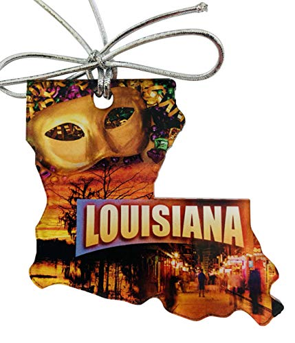 Westmon Works Louisiana Christmas Ornament Acrylic State Shaped Decoration Gift Made in The USA