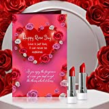 Spread the love cards this Rose Day! -Greeting Card with 2 matte Lipstick Multicolor for girlfriend, wife or your partner! Gift Card with Envelope Size 22 X 15 cm 2 matte Lipstick Multicolor A great way to Convey your love and best wishes Reminds the...