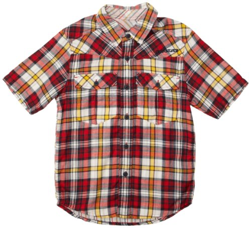 Quiksilver - Chemise - Garçon - Rouge (Quik Red) - FR : 16 ans (Taille fabricant : 16 years)