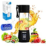Portable Blender, OBERLY Smoothie Juicer Cup - Six Blades in 3D, 13oz Fruit Mixing Machine with 2000mAh USB Rechargeable...