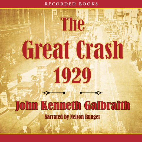 The Great Crash of 1929 audiobook cover art