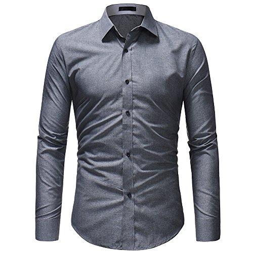 FRAUIT hemd heren heren shirt lange mouwen eenkleurig knopen business vrije tijd party reizen dansfeest ademend comfortabele top blouse 100% katoen M-XXXL Oktoberfest