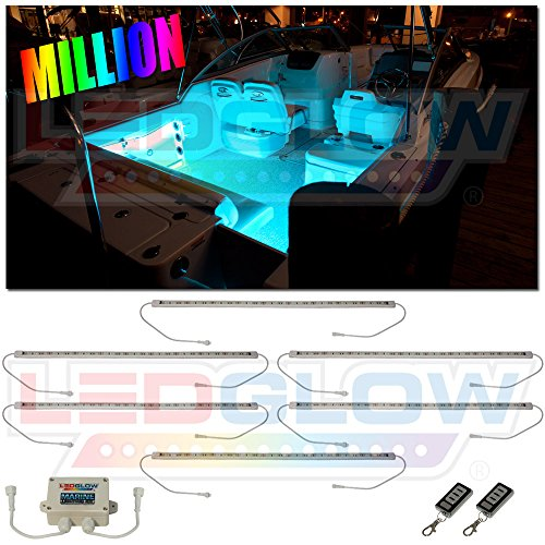 LEDGlow 6pc Million Color LED Boat Marine Deck & Cabin Accent Lighting Kit - 20