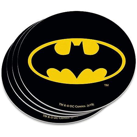 BATMAN LOGO COMIC STRIP CUSTOM RUBBER CAR COASTER SET 2 OOAK