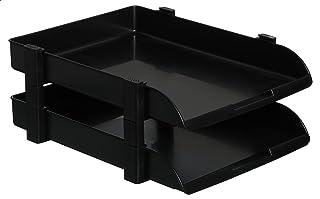 Eagle FT17500 2 Tier Desk Tray, Opaque Black