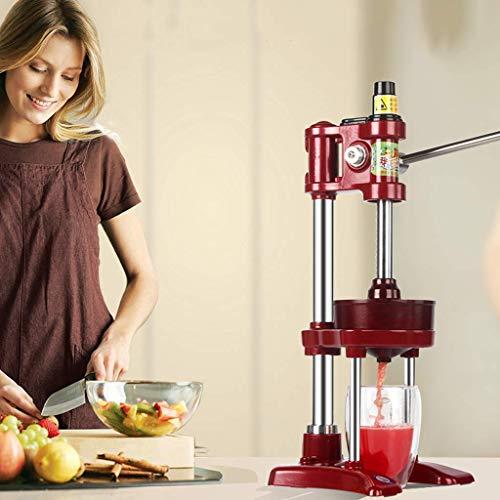 Manuale Juicer della frutta - Commercial Grade casa Citrus Squeezer Leva - acciaio inox e ghisa - antisdrucciolevole ventosa Base, Red LMMS (Color : Red)