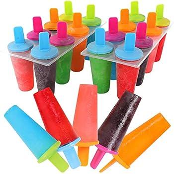 Mr Kitchen s Neon Popsicle Mold Popsicle Maker  Set of 2  Popsicle Molds 16 Popsicles
