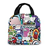 rigi Lunch Bag Insulated Portable Game Luch Box For Adults Kids Teens