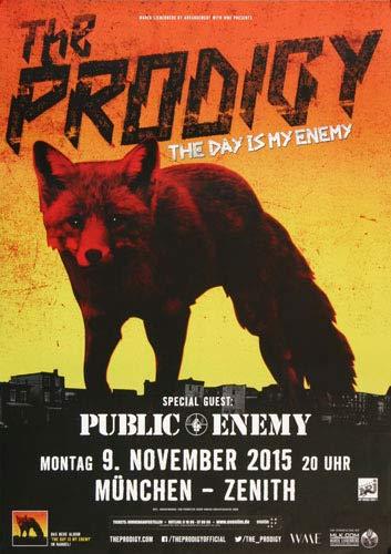 The Prodigy - The Day, München 2015 » Konzertplakat/Premium Poster   Live Konzert Veranstaltung   DIN A1 «