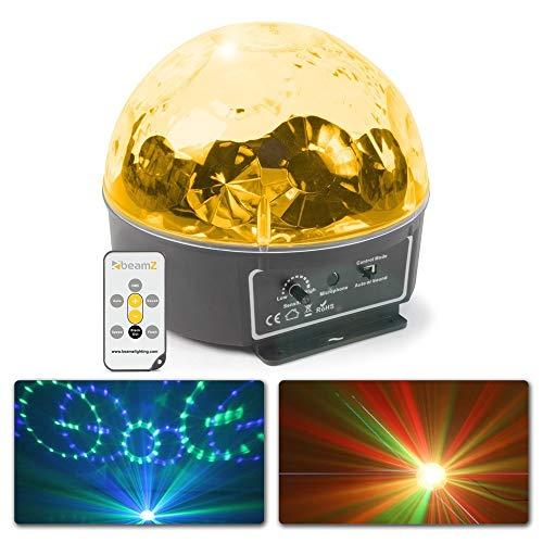 BeamZ Mini Star Ball Schwarz - Disco-Zubehör (Schwarz, LED, 6 Lampen, 3 W, Bernstein, Blau, Grün, Rosa, Rot, Weiß, Wechselstrom)