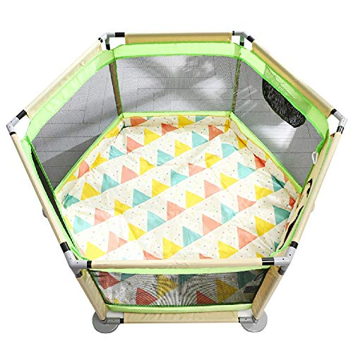 YXX- 6-Panel Baby Playard with Anti-Slip Mat, Portable Toddlers Playpen for Boys and Girls, The Best Birthday Gifts,Extra Tall 65cm (Color : Style-2)