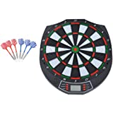 HOMCOM DART BOARD ELECTRONIC DARTBOARD LED DIGITAL SCORE DISPLAY SOFT TIP 18 GAMES