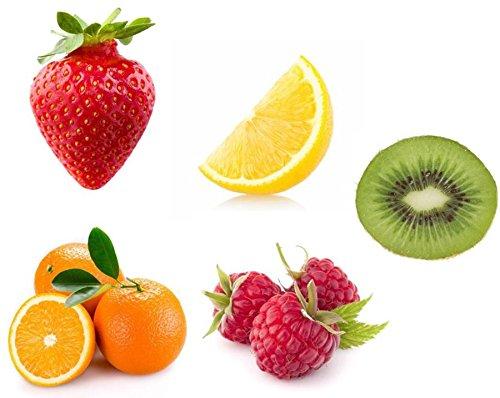 Sticker, zelfklevend, voor keuken, koelkast, aardbeien, citroen, kiwi, framboos, oranje
