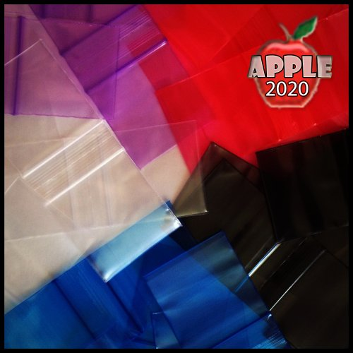 "Small Plastic Recyclable Bags 100 2020 Color Mini Ziplock Baggie Colored Mix 2"" X 2"" (Red) Photo #3"