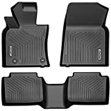 OEDRO Floor Mats Compatible for 2018-2021 Toyota Camry Standard Models, Unique Black TPE All-Weather Guard Includes 1st and 2nd Row: Front, Rear, Full Set Liners ( Not for Hybrid )