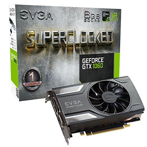 EVGA GeForce GTX 1060 3 Go SSC Gaming ACX 3.0, 3 Go GDDR5, LED SC 6 Go Gris/Argent