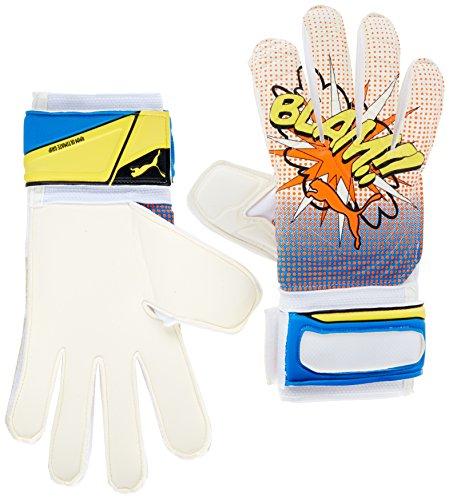 PUMA Torwarthandschuhe EVO Power Grip 2 RC, White/Orange Clown Fish/Electric Blue Lemonade/Pop Art, 9.5, 040998 41