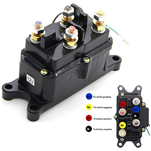 KanSmart 12V 250A Winch Solenoid Relay Contactor Thumb Truck for ATV UTV 4x4 Vehicles