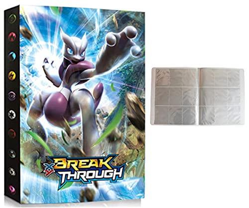 Porte Compatible Avec Carte Pokemon, Album Compatible Avec Pokemon, Classeur Compatible Avec Pokemon, Portfolio Compatible Avec Pokemon, Peut contenir jusqu'à 432 cartes (3D-Mewtwo)