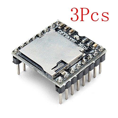 Ils - 3 Piezas DFPlayer Mini MP3 Jugador del Módulo para Arduino