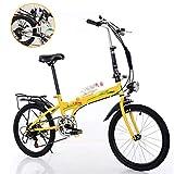CHINESS 20' Bicicleta Plegable, Bike Bicicleta Plegable, Urbana Folding Bicicleta Plegable Cuadro Aluminio Ruedas,Bicicleta Plegable Street,Adultos Unisex, Transporte PúBlico