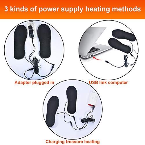 PINPOXE Semelles chauffantes, Semelle chauffante Electrique USB, Semelles Pieds Warmers, Semelles...