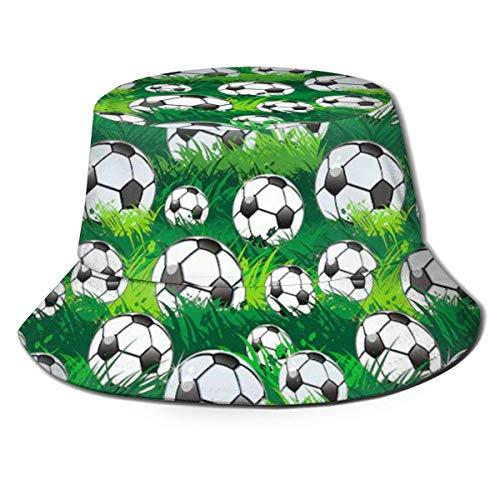 136 Gorra de pescador para pelotas de fútbol, para mujeres, hombres, niños, niñas, ala ancha.