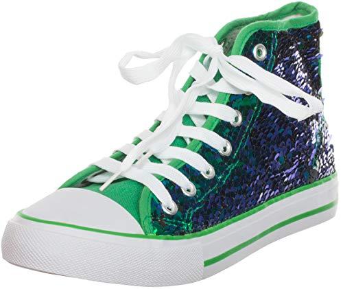 Brandsseller - Zapatillas para Mujer con Lentejuelas de Media Altura, Color...