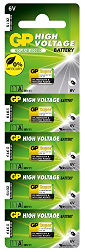GP 11A-U5 Alkaline Batterie MN11 (6V) High Voltage (5 batteries)