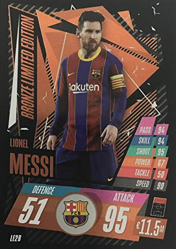 Topps Match Attax Champion League 20/21 Limited Edition Lionel Messi Barcelona Bronze