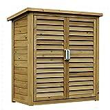 Gabinete de jardín portátil grande de madera al aire libre cobertizo estante armario herramientas de almacenamiento
