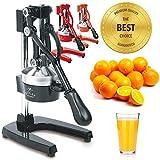 Zulay Professional Citrus Juicer - Manual Citrus Press and Orange Squeezer - Metal Lemon Squeezer -...