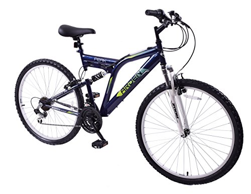 Mountain Bikes Arden Peak 26″ Wheel Dual Full Suspension 21 Speed Mountain Bike 19″ Frame Blackcurrant
