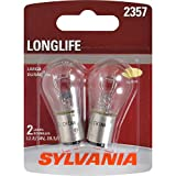 SYLVANIA - 2357 Long Life Miniature - Bulb, Ideal for Daytime Running Lights (DRL) and Back-Up/Reverse Lights (Contains 2 Bulbs)