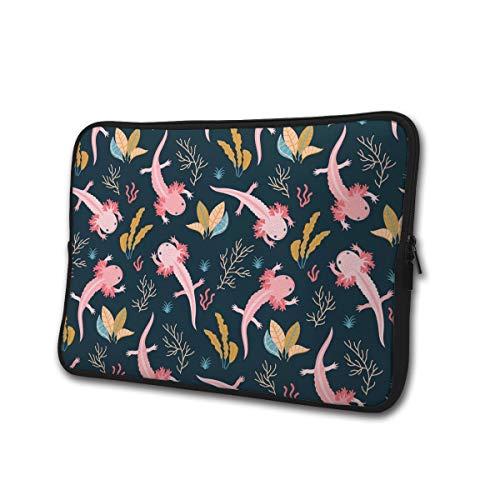 Axolotl en Sea Weed 13-15 Inch Laptop/Tablet Sleeve Schokbestendig Neopreen Sleeve Bag voor Notebook Chromebook, Ultrabook, MacBook